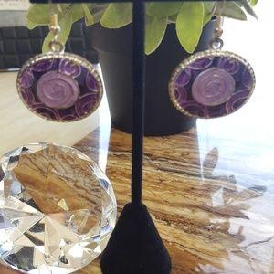 Jewelry - Purple earrings